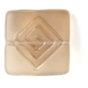 Glass Bead Flat Square 15mm With Centre Drill Smoked Topaz Matt - Strung
